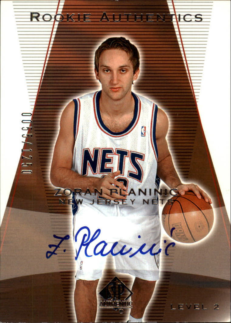 2003-04 SP Authentic #166 Zoran Planinic AU RC
