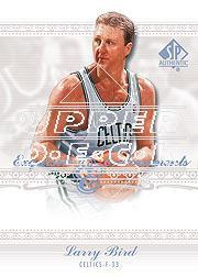 2003-04 SP Authentic Exquisite Endorsements #LB Larry Bird