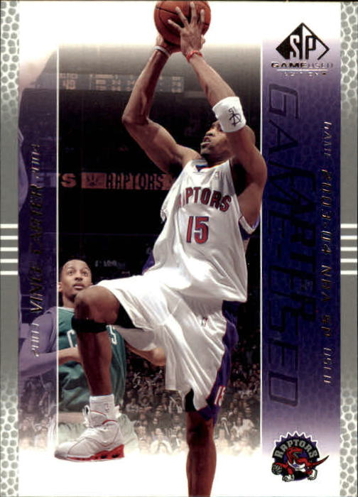 2003-04 SP Game Used #87 Vince Carter