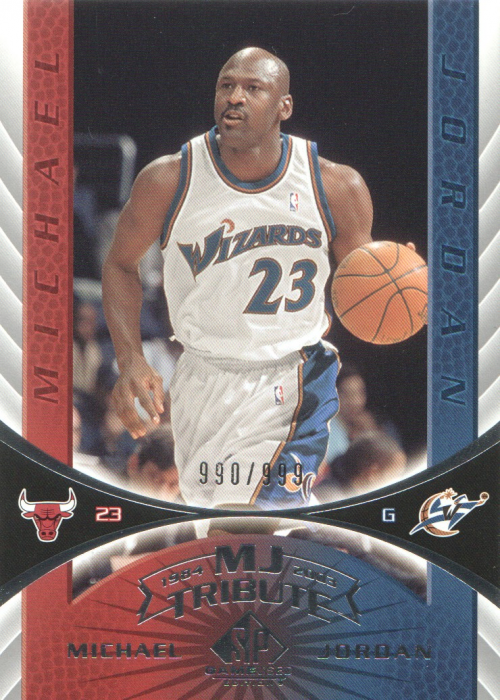 2003-04 SP Game Used #104 Michael Jordan Tribute