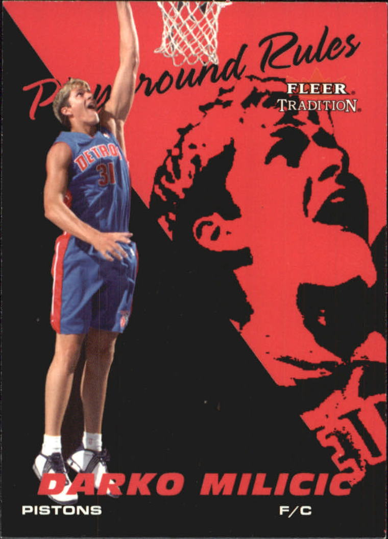 2003-04 Fleer Tradition Playground Rules #2 Darko Milicic