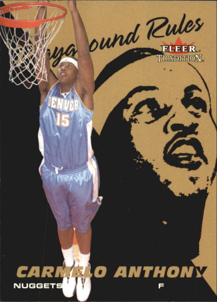 2003-04 Fleer Tradition Playground Rules #3 Carmelo Anthony front image