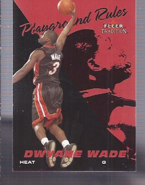 2003-04 Fleer Tradition Playground Rules #5 Dwyane Wade