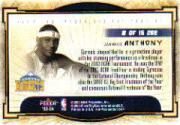 2003-04 Hoops Hot Prospects Cream of the Crop #8 Carmelo Anthony back image