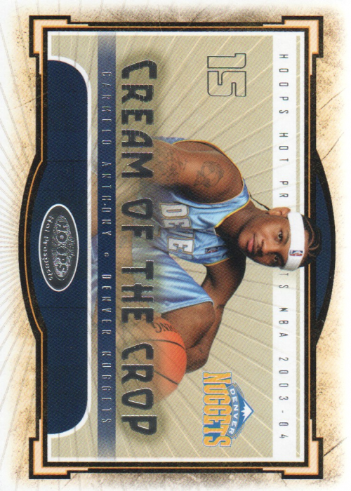 2003-04 Hoops Hot Prospects Cream of the Crop #8 Carmelo Anthony front image