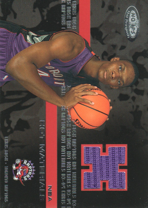 2003-04 Hoops Hot Prospects Hot Materials #5 Chris Bosh