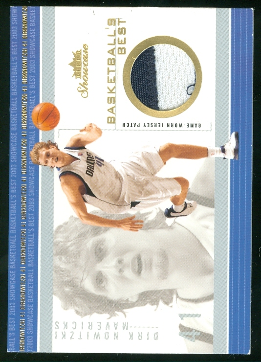 2003-04 Fleer Showcase Basketball's Best Memorabilia Gold #17 Dirk Nowitzki