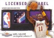 2003-04 Fleer Patchworks Licensed Apparel Jersey Number #KM Karl Malone