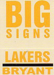 2003-04 Fleer Platinum Big Signs #5 Kobe Bryant