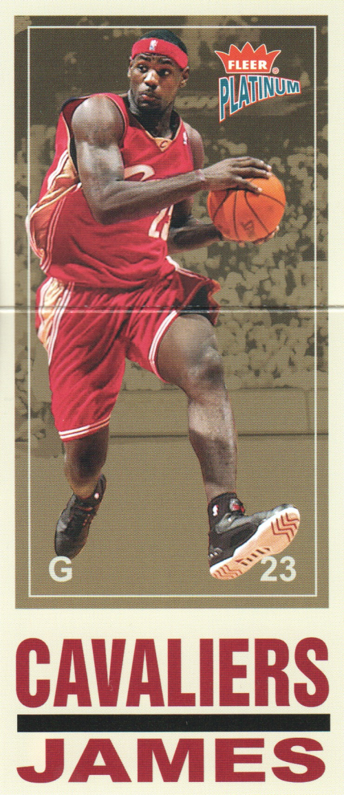 2003-04 Fleer Platinum Big Signs #7 LeBron James