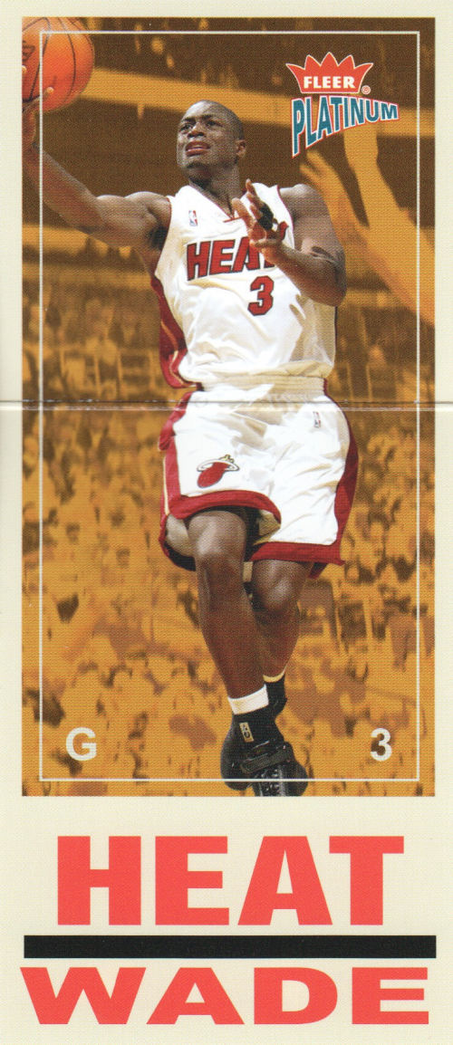 2003-04 Fleer Platinum Big Signs #8 Dwyane Wade front image