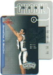 2003-04 Fleer Focus Home and Aways Dual Jerseys #HAMG Manu Ginobili