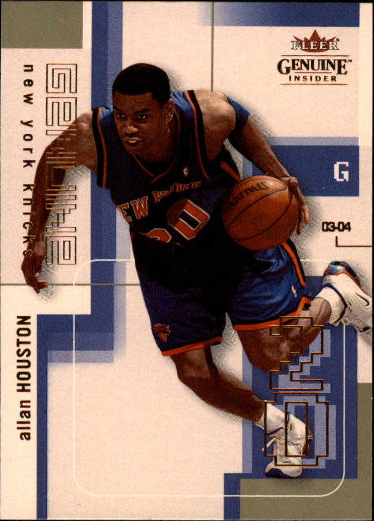 2003-04 Fleer Genuine Insider #5 Allan Houston