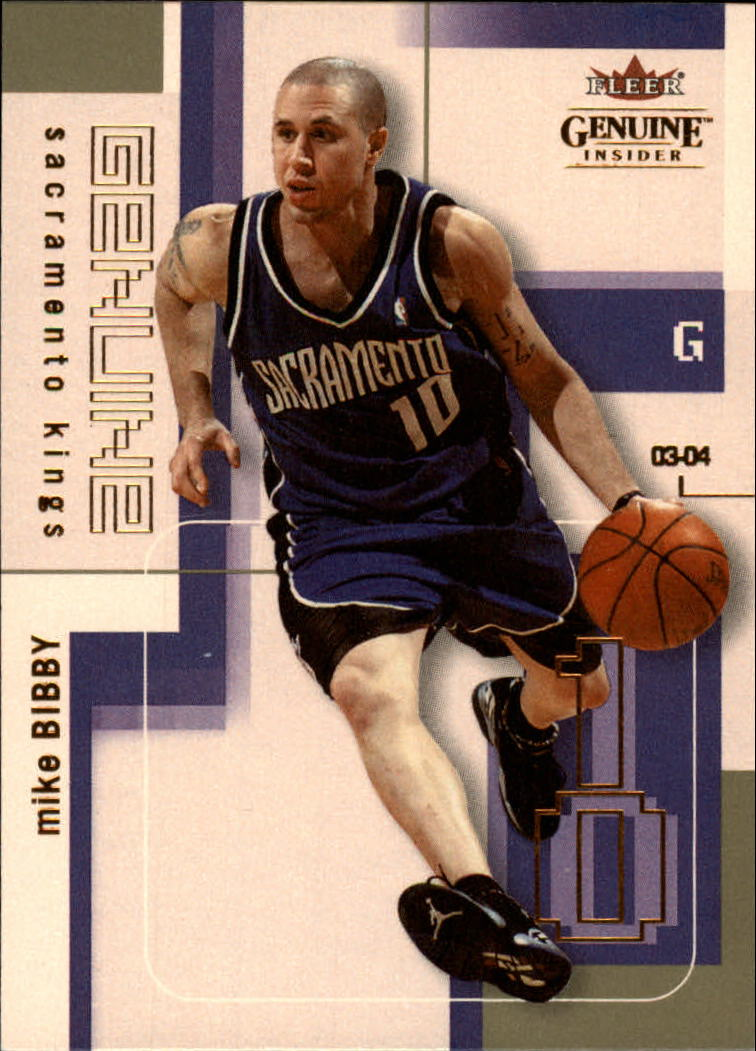 2003-04 Fleer Genuine Insider #6 Mike Bibby