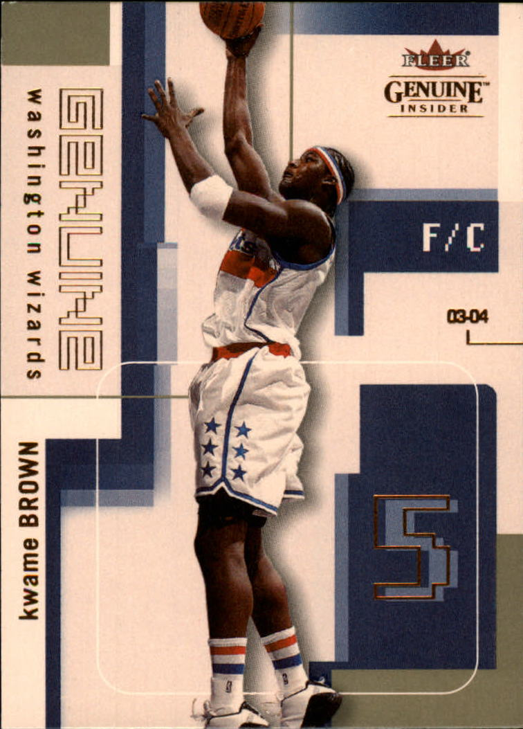 2003-04 Fleer Genuine Insider #7 Kwame Brown