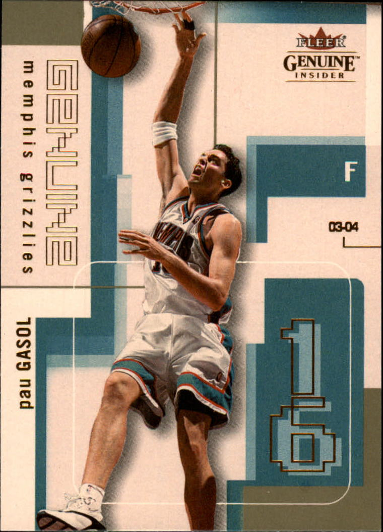 2003-04 Fleer Genuine Insider #16 Pau Gasol