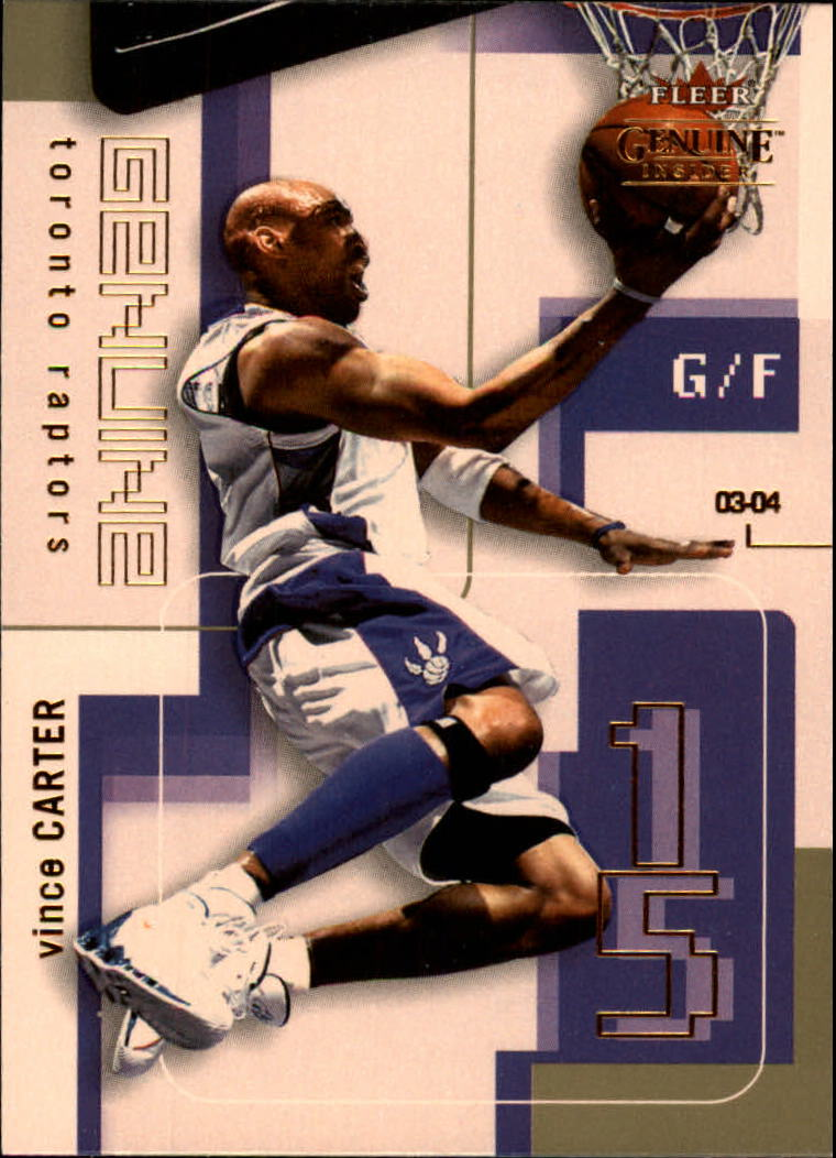 2003-04 Fleer Genuine Insider #19 Vince Carter