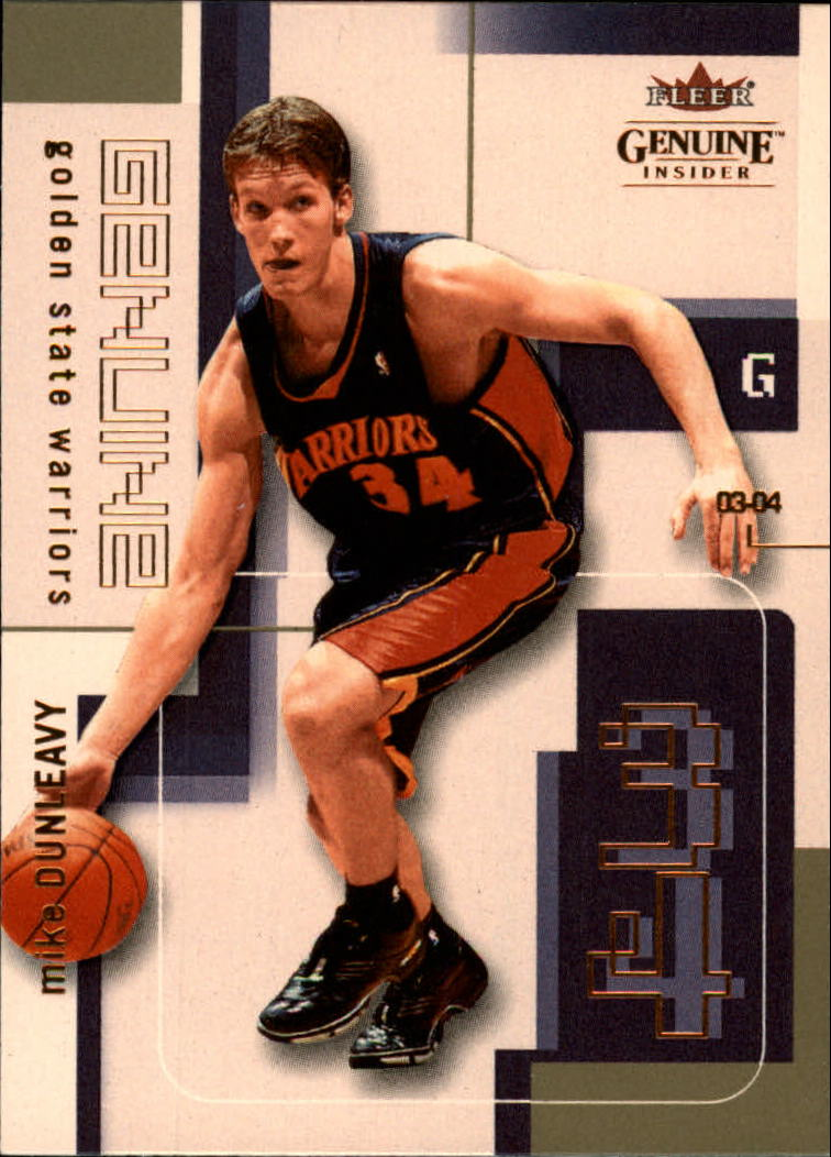 2003-04 Fleer Genuine Insider #21 Mike Dunleavy Jr.