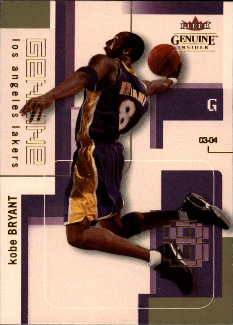 2003-04 Fleer Genuine Insider #22 Kobe Bryant