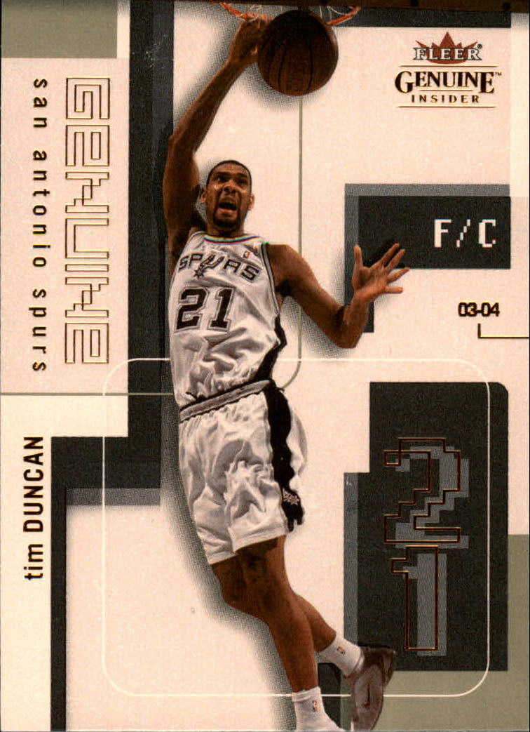 2003-04 Fleer Genuine Insider #25 Tim Duncan