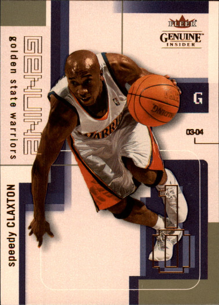 2003-04 Fleer Genuine Insider #27 Speedy Claxton