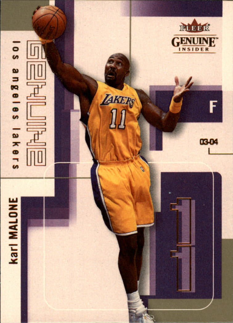 2003-04 Fleer Genuine Insider #28 Karl Malone