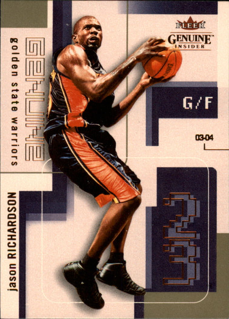 2003-04 Fleer Genuine Insider #33 Jason Richardson