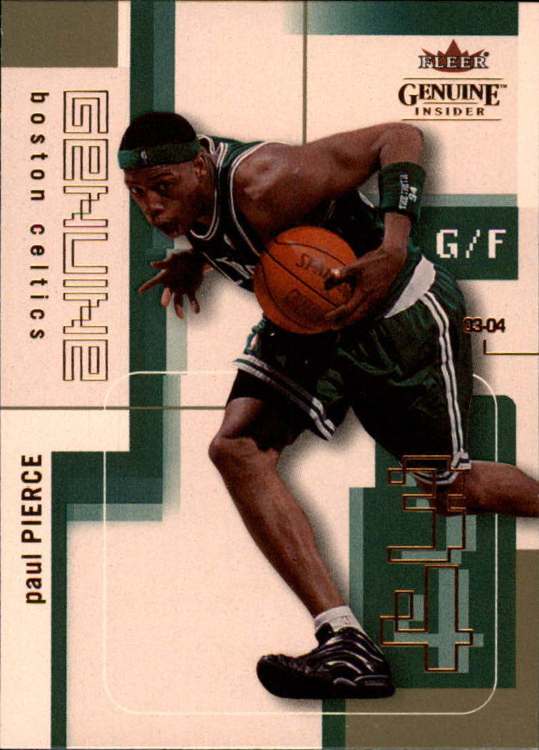 2003-04 Fleer Genuine Insider #38 Paul Pierce