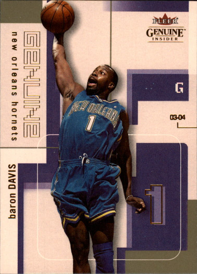 2003-04 Fleer Genuine Insider #48 Baron Davis