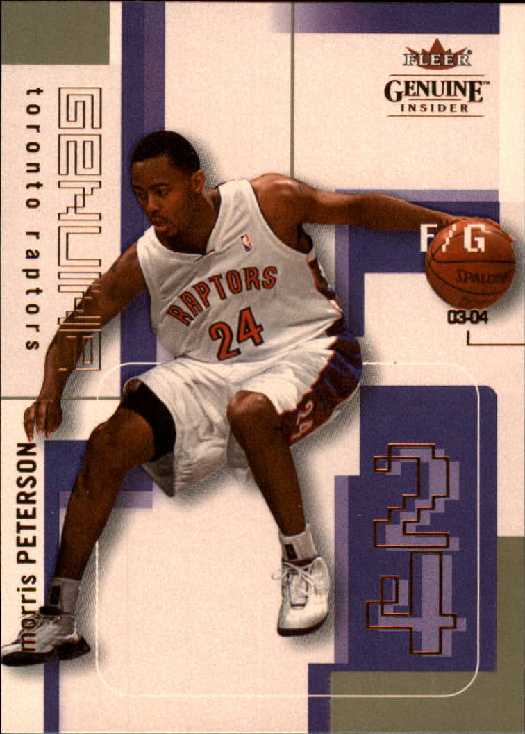 2003-04 Fleer Genuine Insider #50 Morris Peterson