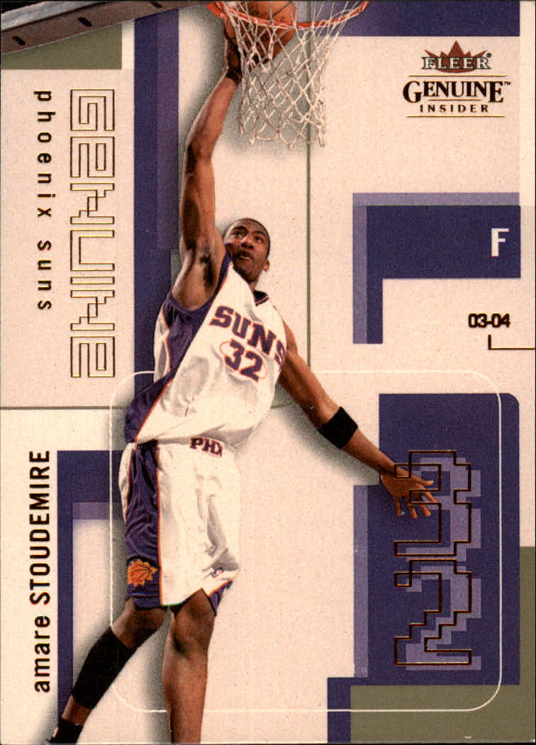2003-04 Fleer Genuine Insider #55 Amare Stoudemire