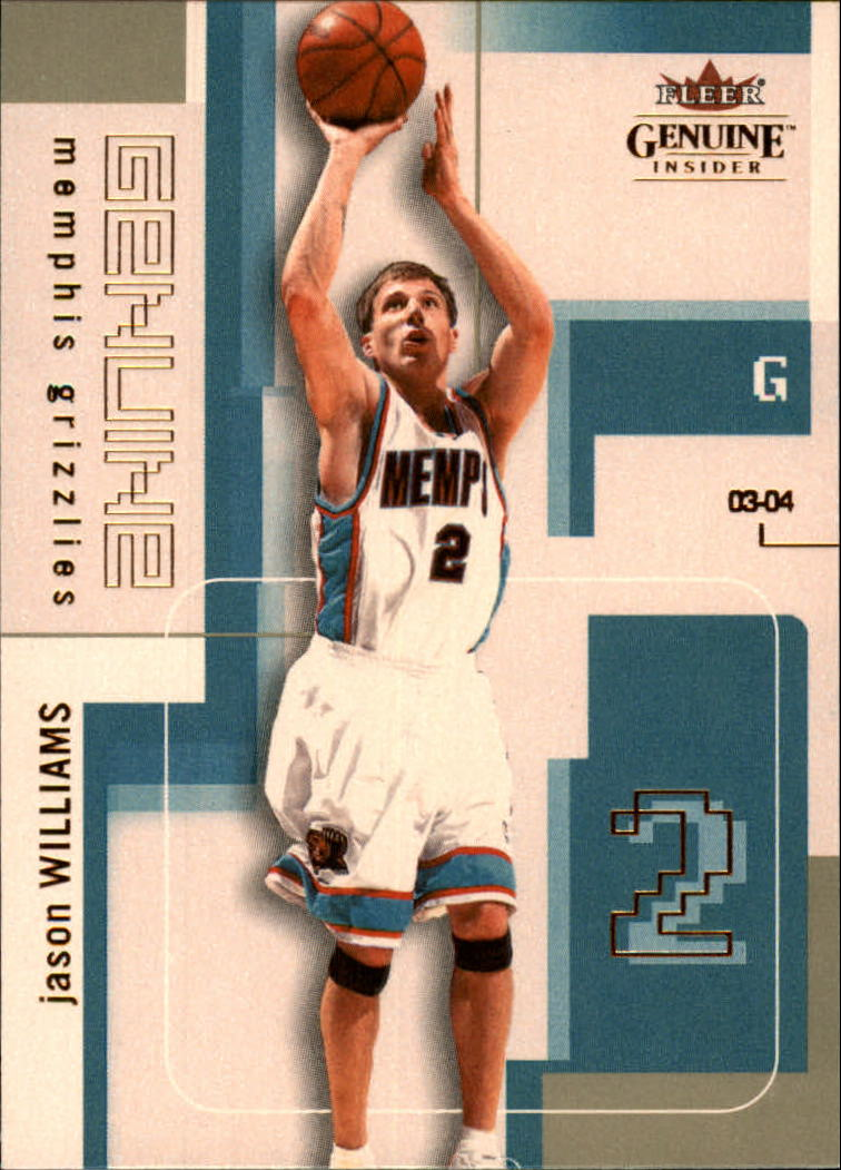 2003-04 Fleer Genuine Insider #59 Jason Williams