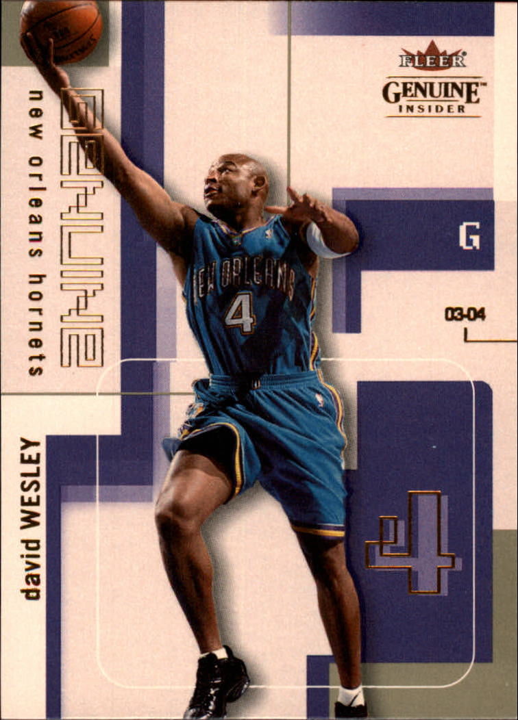 2003-04 Fleer Genuine Insider #60 David Wesley