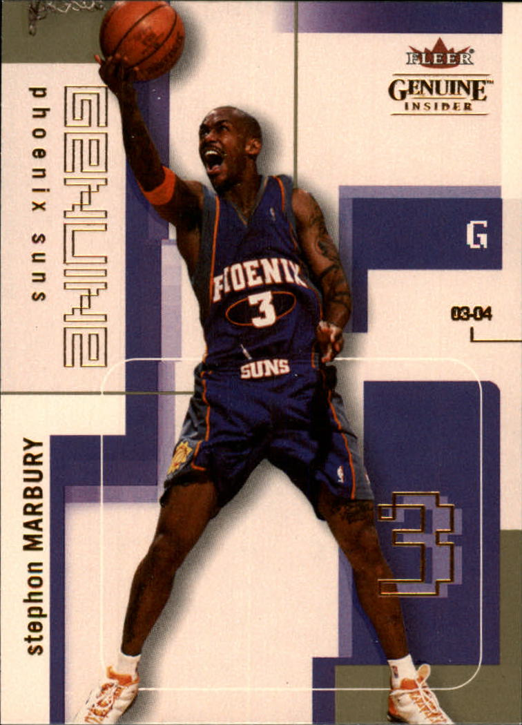2003-04 Fleer Genuine Insider #61 Stephon Marbury