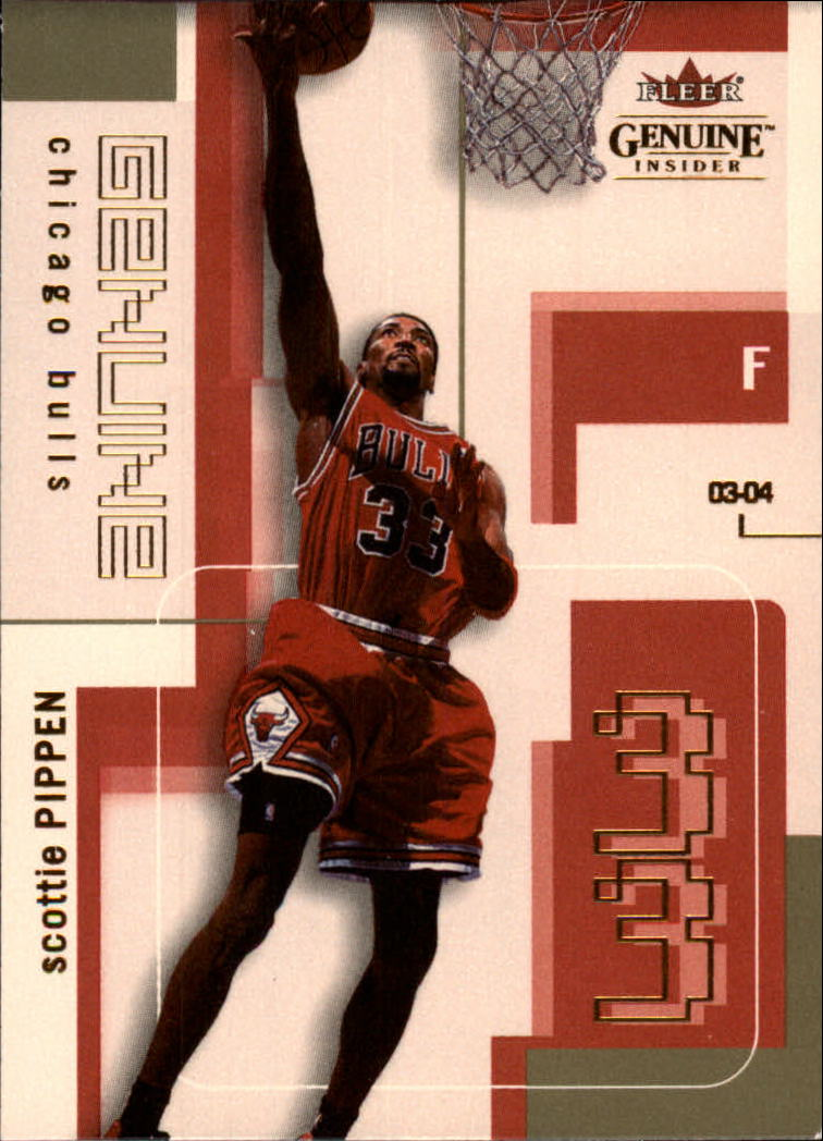 2003-04 Fleer Genuine Insider #63 Scottie Pippen