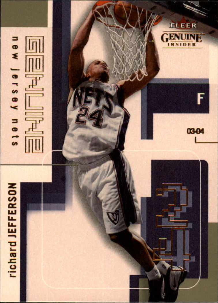 2003-04 Fleer Genuine Insider #66 Richard Jefferson