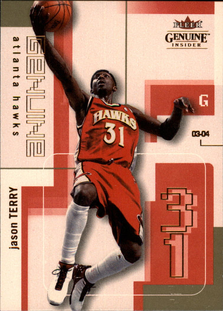 2003-04 Fleer Genuine Insider #69 Jason Terry