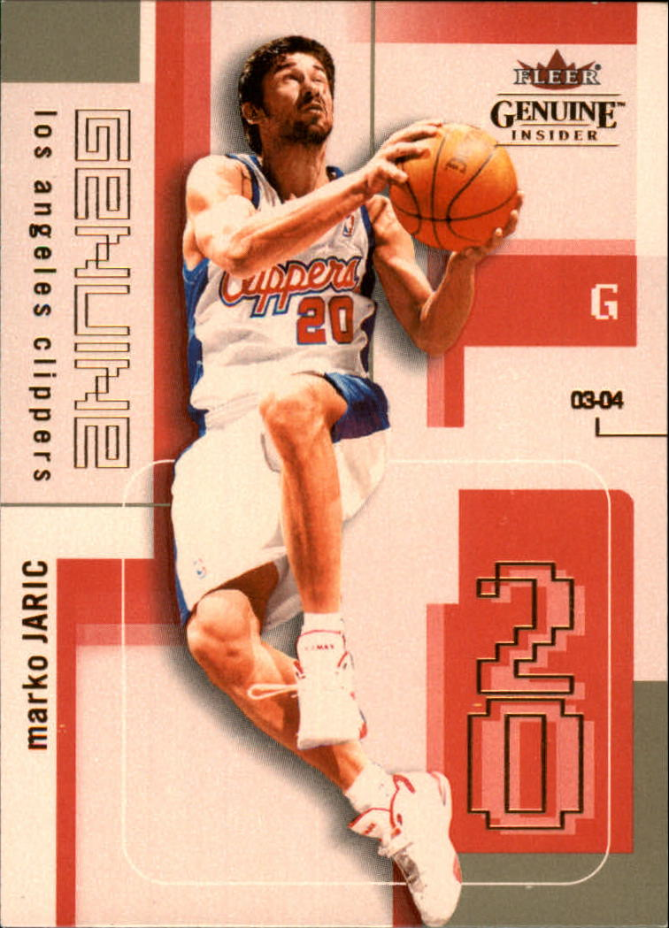 2003-04 Fleer Genuine Insider #71 Marko Jaric