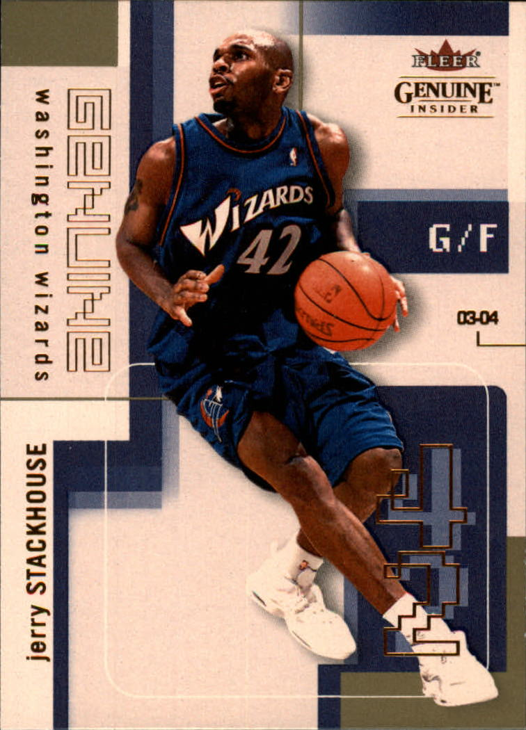 2003-04 Fleer Genuine Insider #75 Jerry Stackhouse