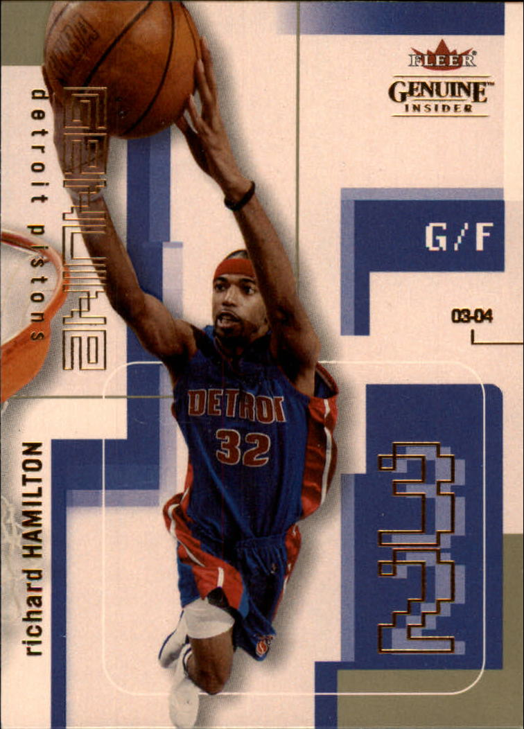 2003-04 Fleer Genuine Insider #77 Richard Hamilton