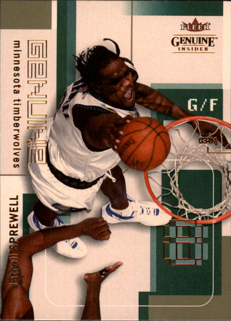 2003-04 Fleer Genuine Insider #79 Latrell Sprewell