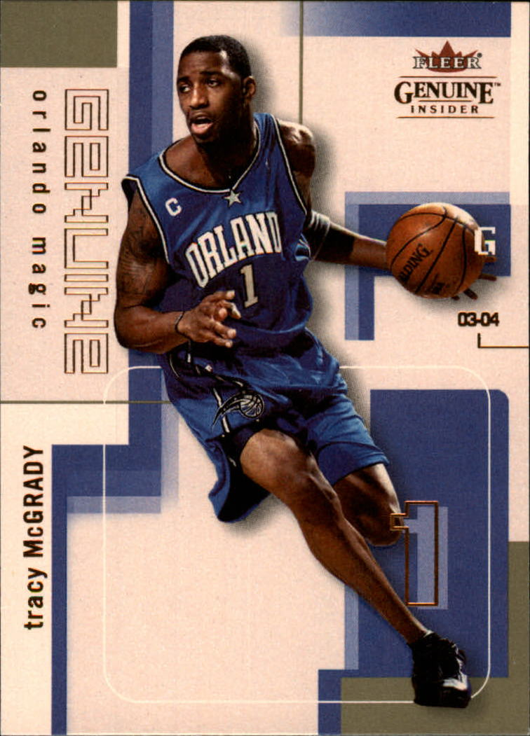 2003-04 Fleer Genuine Insider #80 Tracy McGrady