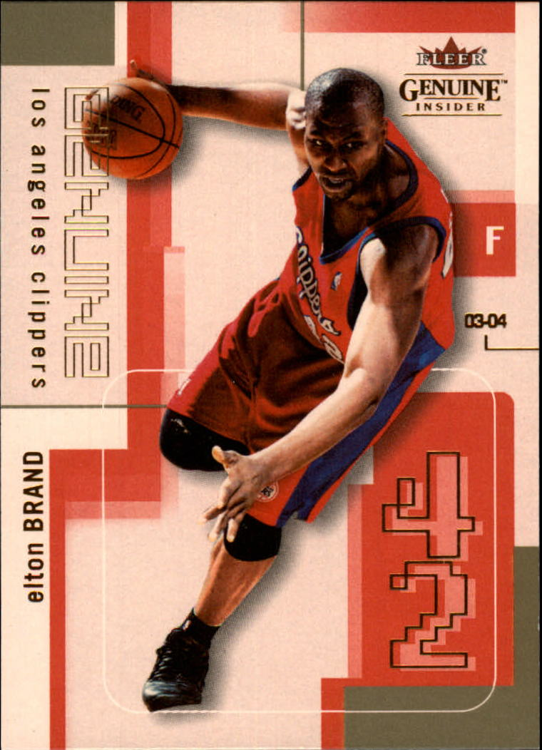 2003-04 Fleer Genuine Insider #84 Elton Brand