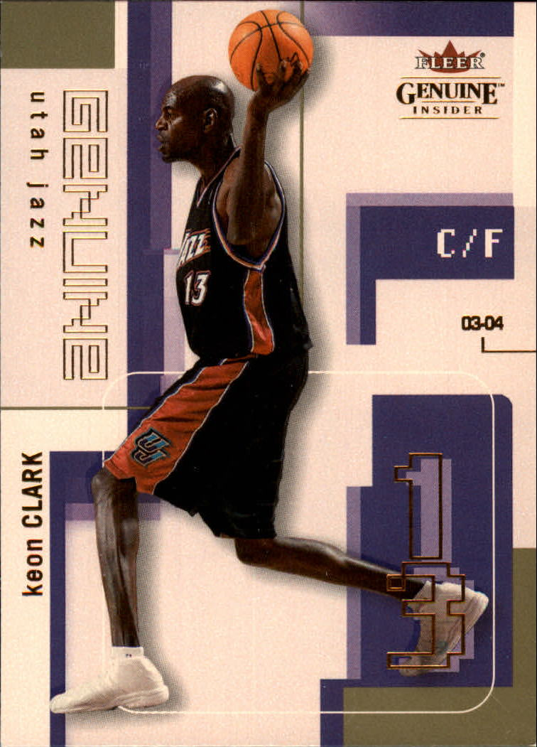 2003-04 Fleer Genuine Insider #86 Keon Clark