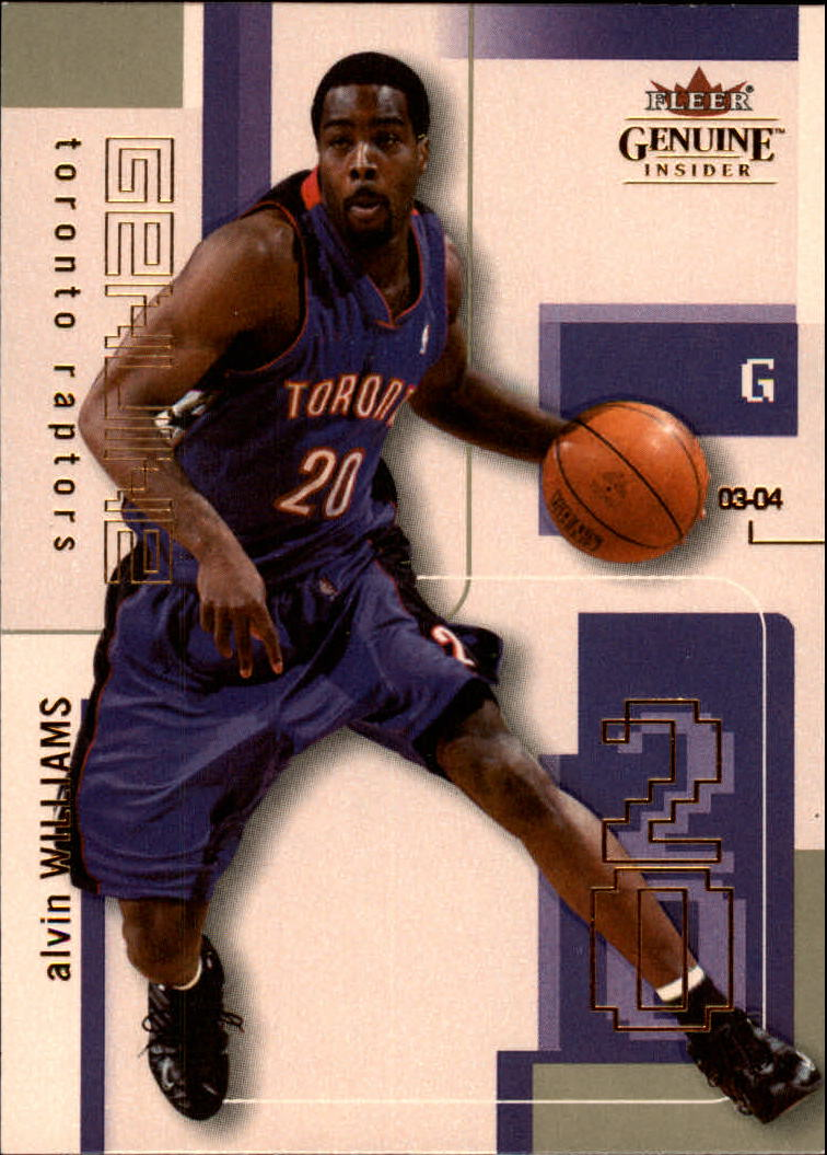 2003-04 Fleer Genuine Insider #88 Alvin Williams