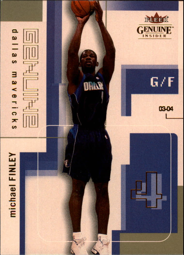 2003-04 Fleer Genuine Insider #89 Michael Finley
