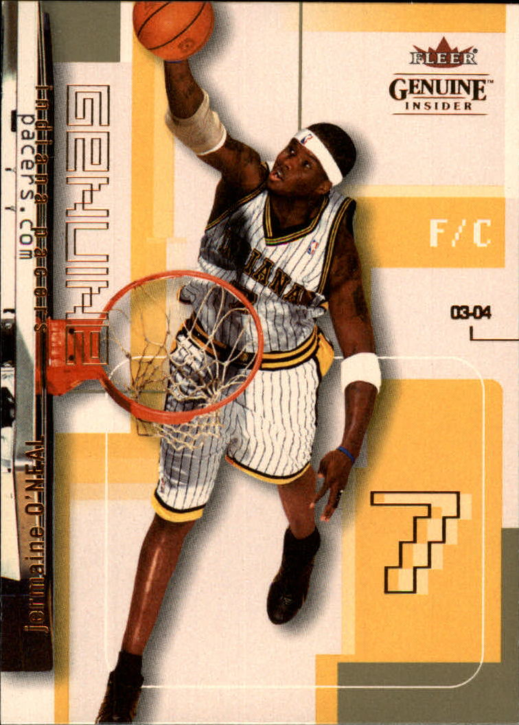 2003-04 Fleer Genuine Insider #90 Jermaine O'Neal