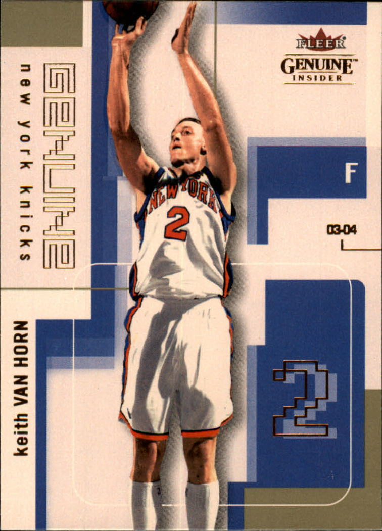 2003-04 Fleer Genuine Insider #92 Keith Van Horn