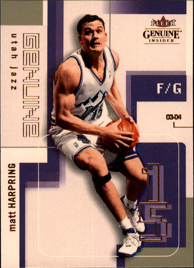 2003-04 Fleer Genuine Insider #94 Matt Harpring