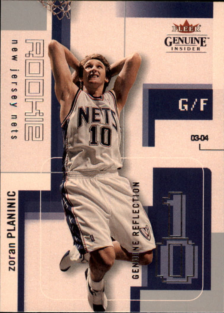 2003-04 Fleer Genuine Insider #123 Zoran Planinic RC